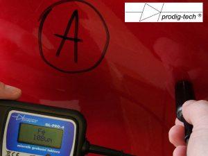 """Fot. 4. Wskazanie na elemencie """"A""""."""