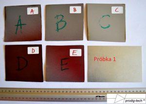 Fot.2. Oznaczenie próbek.