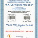 Prodig Tech - certyfikat